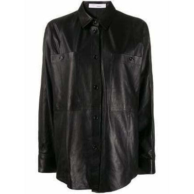 IRO BLOUSE SYSTEM LEATHER SHIRT