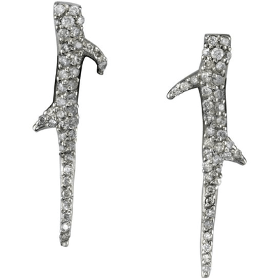 SHERYL LOWE DIAMOND EARRINGS THORN HOOK EARRINGS
