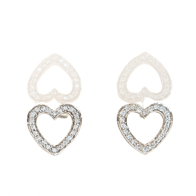 TIFFANY HEART DIAMOND EARRINGS