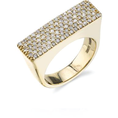 SHERYL LOWE DIAMOND RING TOWER RING - GOLD