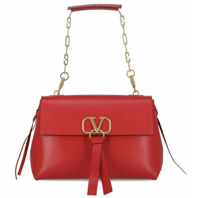 VALENTINO LX LIVE VALENTINO V RING LARGE TOTE - RED