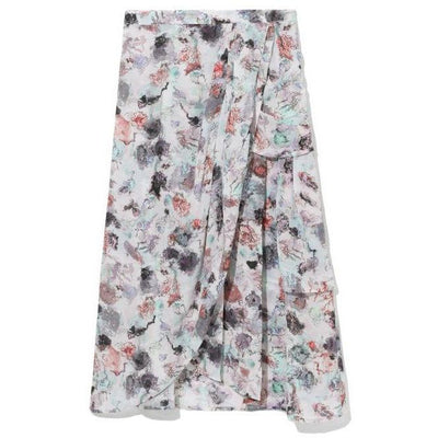 IRO SKIRT VOLAR MID LENGTH PRINTED SKIRT