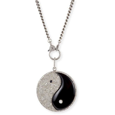 SHERYL LOWE DIAMOND NECKLACE YING YANG NECKLACE