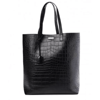 YSL LEATHER CROCODILE SHOPPING TOTE