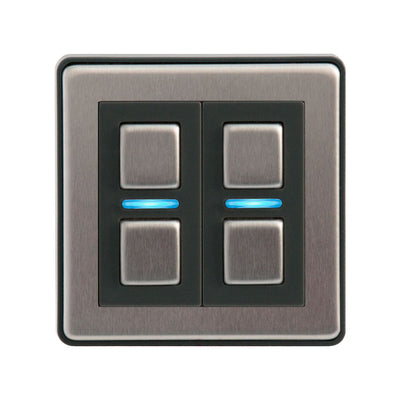 Smart Dimmer - 2 Gang  (Non-UK)