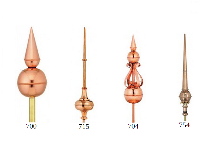 Copper Finials