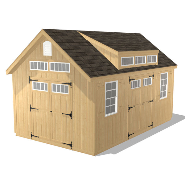 Ponderosa - 10x16 with 8' Shed Dormer