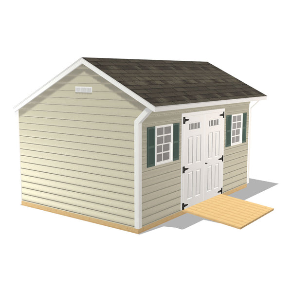 Quaker - 10x14 with Vinyl Clapboard