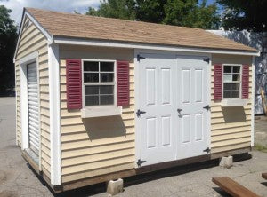 Discounted storage sheds: chateau vinyl