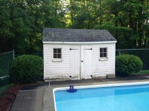 Image Of Old Storage Shed To Be Removed By New England Outdoor