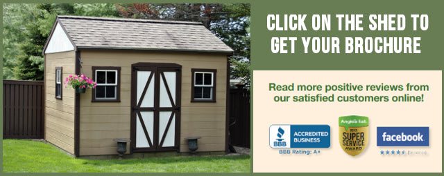 outdoor sheds for sale, Request a brochure