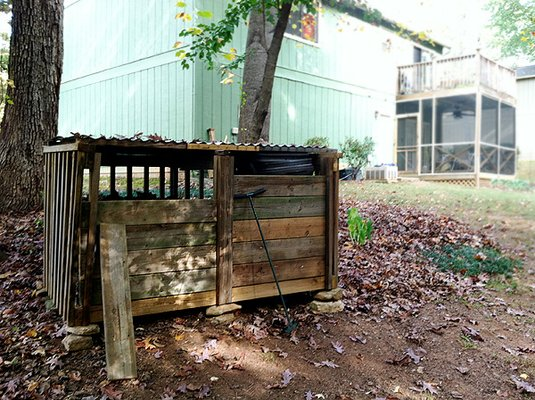 Leaf compost bin, fall cleanup to-dos