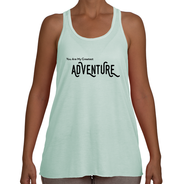 Cotton Tail Clothing - Cotton Tail Clothing, Women's Racerback kids clothes, Greatest Adventure Flowy Racerback shirt
