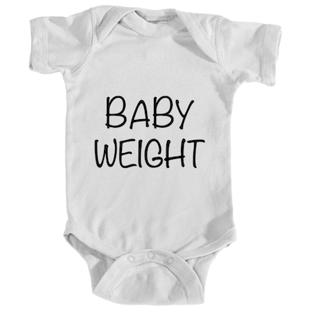 "Cotton Tail Clothing - Cotton Tail Clothing, Infant Onesie kids clothes, Infant ""Baby Weight"" Onesie shirt"