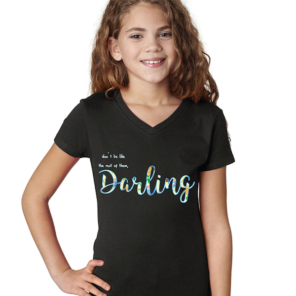 "Cotton Tail Clothing - Cotton Tail Clothing, Youth V-Neck kids clothes, Youth ""Darling"" V-Neck shirt"