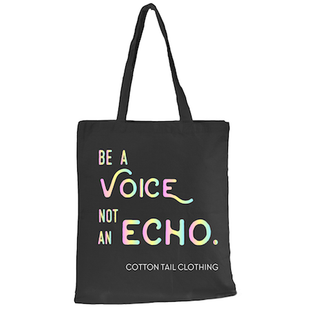 Cotton Tail Clothing - Cotton Tail Clothing, Signature Tote for Autism Awareness kids clothes, Echo Canvas Tote Bag shirt