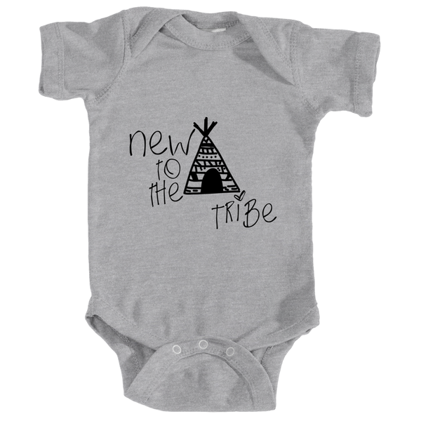 Cotton Tail Clothing - Cotton Tail Clothing, Infant Onesie kids clothes, Infant New To Tribe Onesie shirt