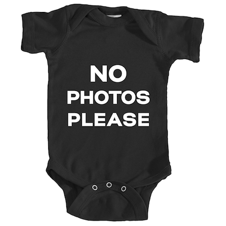 "Cotton Tail Clothing - Cotton Tail Clothing, Infant Onesie kids clothes, Infant ""No Photos Please"" Onesie shirt"