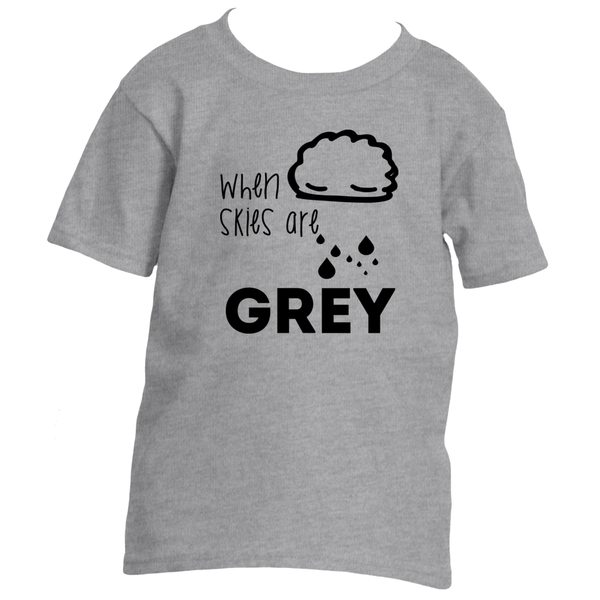 Cotton Tail Clothing - Cotton Tail Clothing, Toddler T-Shirt kids clothes, Toddler When Skies are Grey T-Shirt shirt