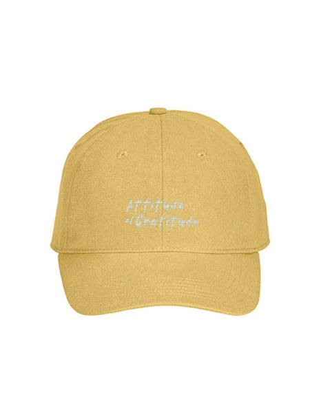 AOG Hat in Washed Yellow