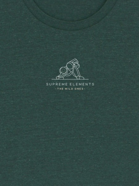 Gorilla Heather Glazed Green Organic Tee