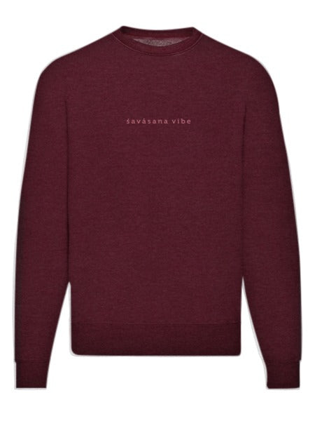 Savasana Vibe Embroidered Washed Sweatshirt