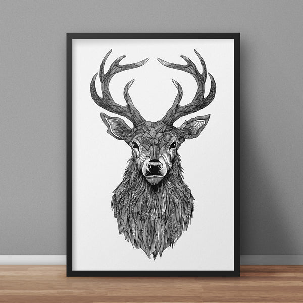 Stag A3 Print - Supreme Elements