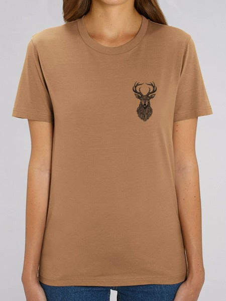 Stag Tee Chest Print