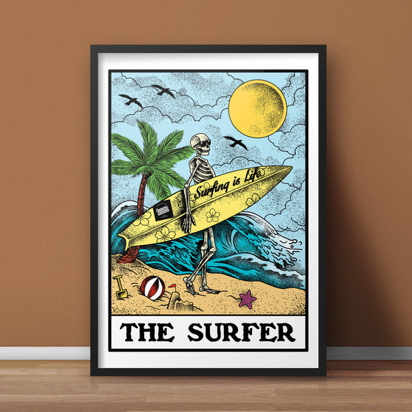 The Surfer A3 Print - Supreme Elements  - 1