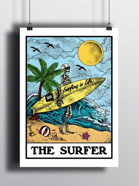 The Surfer A3 Print - Supreme Elements  - 2