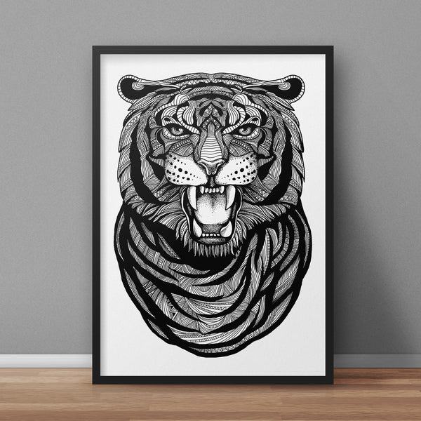 Tiger A3 Print - Supreme Elements