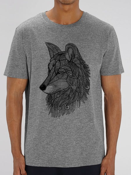 Wolf Tee Heather Grey