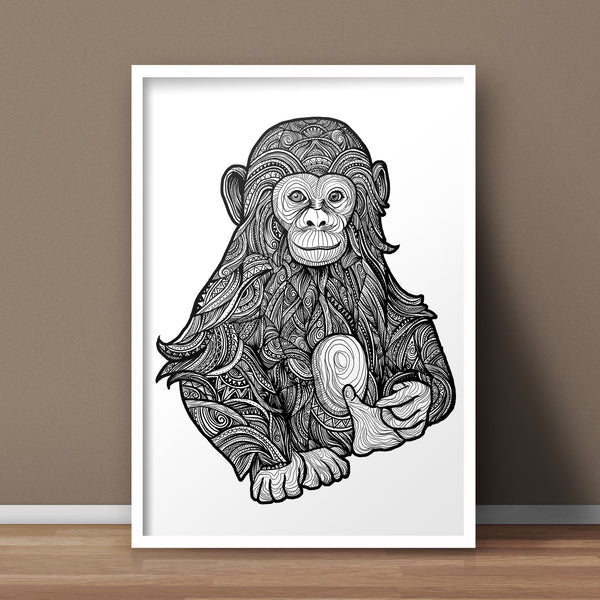 Chimpanzee A3 Print - Supreme Elements  - 1