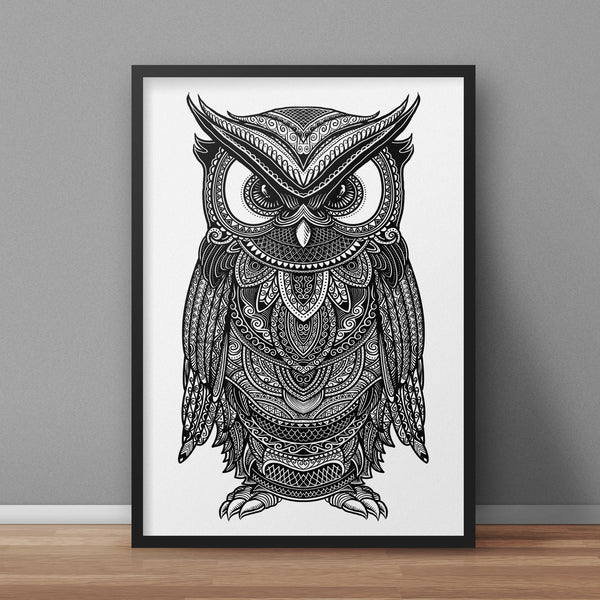 Owl A3 Print - Supreme Elements