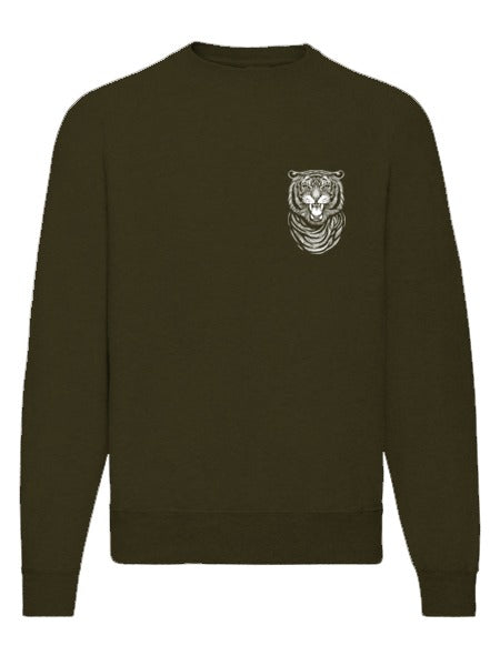 Tiger Chest Print Sweatshirt