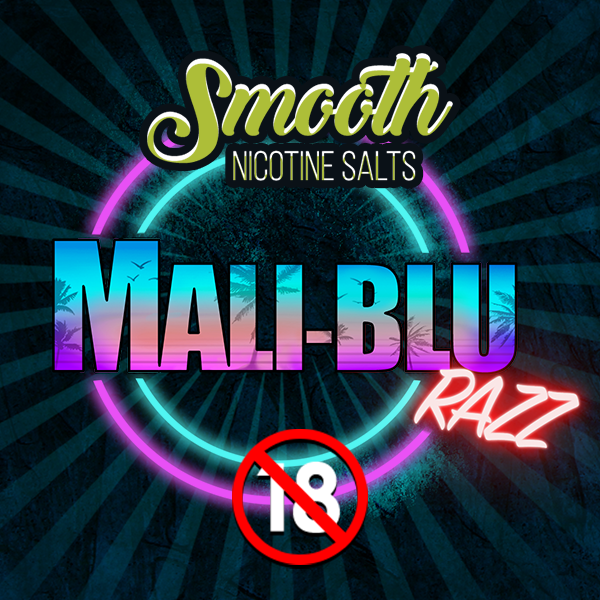 Smooth Nic Salts - Mali-Blu Razz (30ml)