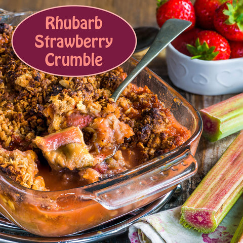 Rhubarb & Strawberry Crumble
