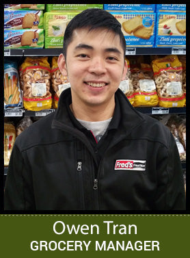 Owen - fredsfruit grocery manager