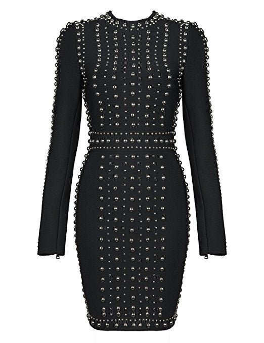 Kizzy Studded Bandage Dress - Saje Boutique