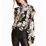 Jungle Vibes Printed Ruffle Blouse - Saje Boutique