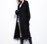 Easy Rider Black Distressed Cardigan - Saje Boutique