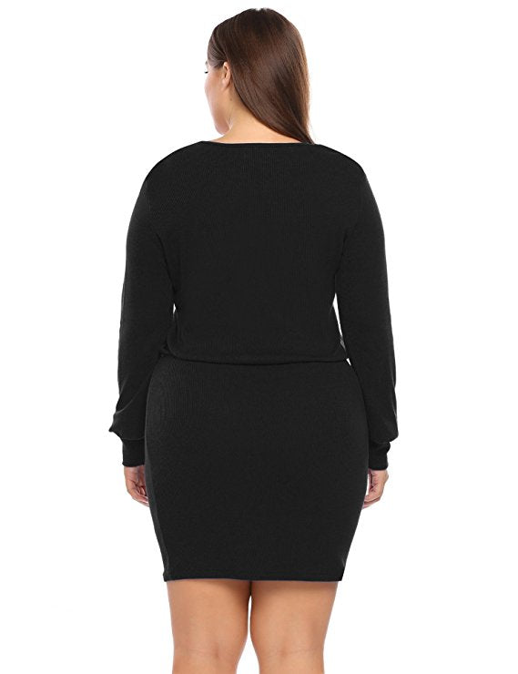 Jaz Black Plus Size Dress