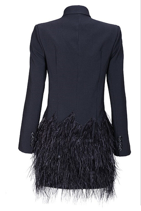 Ruffle My Feathers Jacket - Saje Boutique