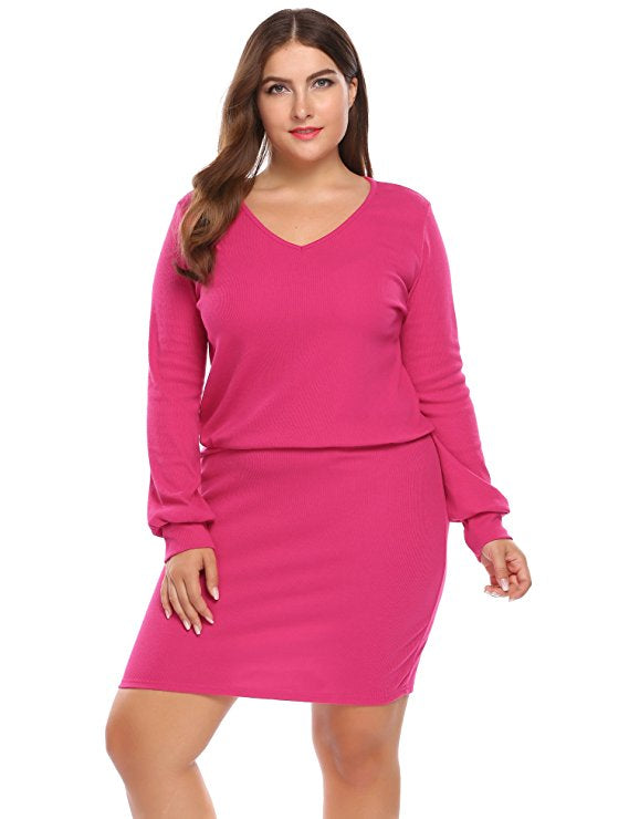 Jaz Pink Plus Size Dress – Saje Boutique