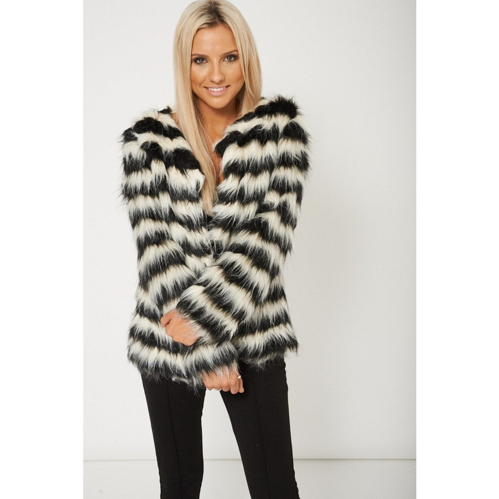 Faux-y Lady Fur Coat - Saje Boutique
