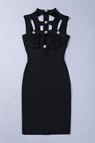 Metal Detector Black Bandage Dress - Saje Boutique