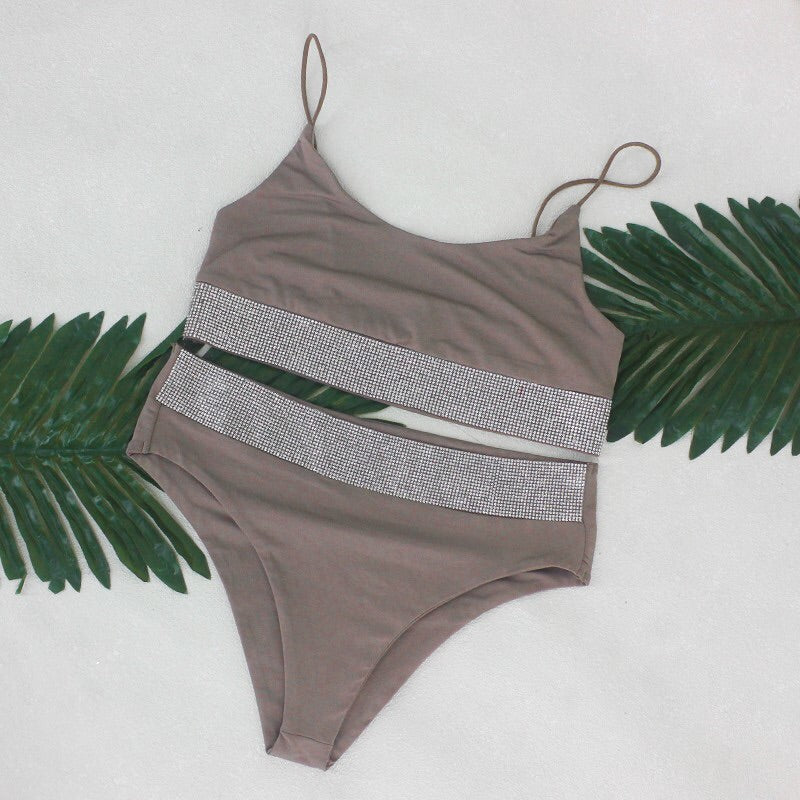 Bronzed Bella Bling Bikini-Tan - Saje Boutique