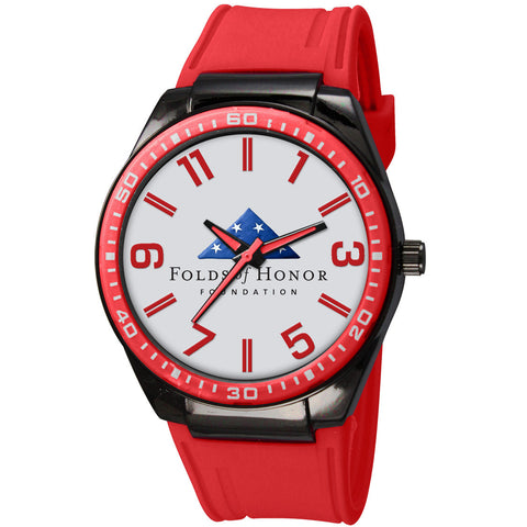 Folds of Honor Captivate (Red w/ silver dial)