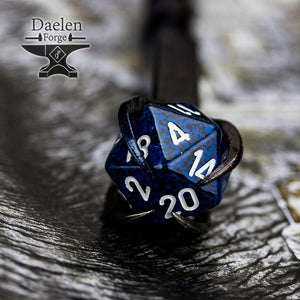 D20 Gamers Wand (Dark Blue) - Hand Forged For Critical Success