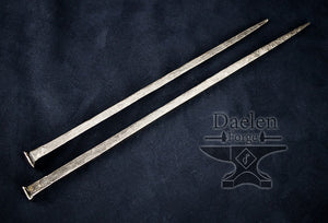 Blacksmith Nail Hair Pins